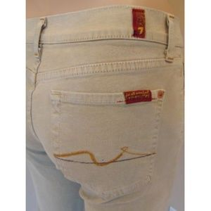 7 Seven For All Mankind Jeans Tan Stretch Boot 27
